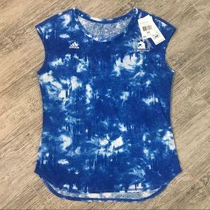 Adidas BLUE Slayer 2017 Boston Marathon Tee XS